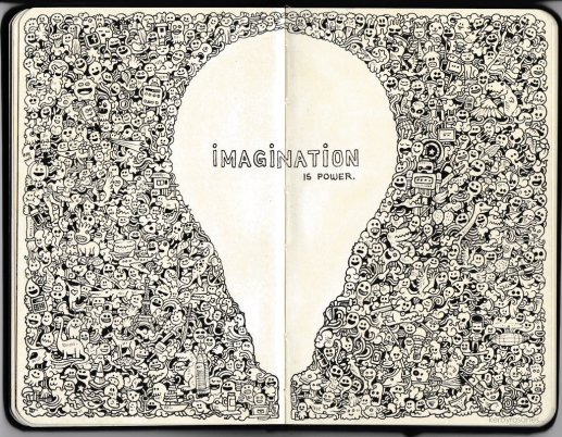 moleskine_doodles__imagination_is_power_by_kerbyrosanes-d6f70r1